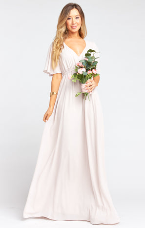 Emily Empire Maxi Dress ~ Show Me The Ring Crisp