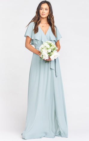Audrey Maxi Dress ~ Silver Sage Crisp