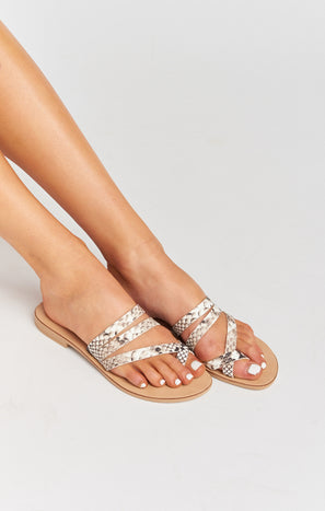 Steve Madden Ringtone Sandals ~ Natural Snake