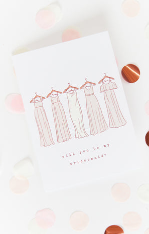 Bridesmaid Proposal Card ~ Show Me The Ring