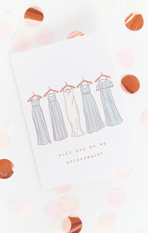 Bridesmaid Proposal Card ~ Silver Sage