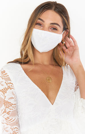 Ever After Lace Mask ~ White