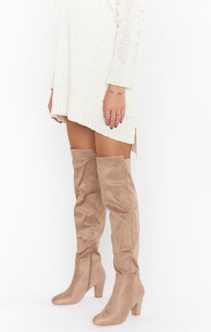 Canyons High Boot ~ Taupe Suede