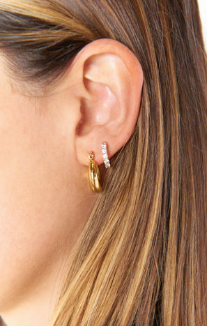 LUV AJ Mini Martina Hoop Earrings ~ Gold