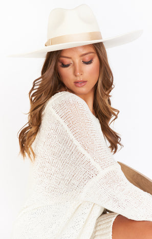 Lack of Color Montana Wide Brim Hat ~ Ivory Bone