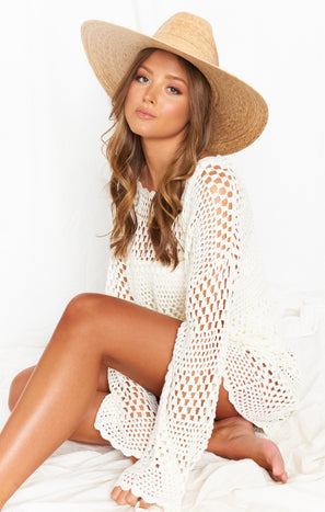 Lack Of Color Western Wide Palma Hat ~ Natural