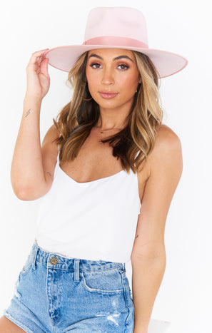 Lack of Color Stardust Rancher Hat ~ Light Pink