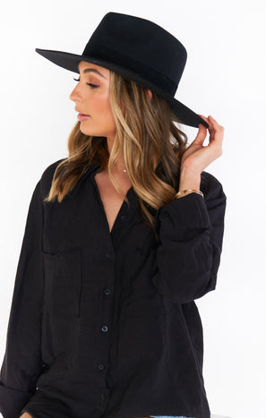 Lack of Color The Mirage Wide Brim Hat ~ Black