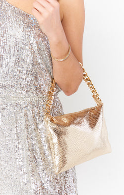 Aura Chain Purse ~ Gold