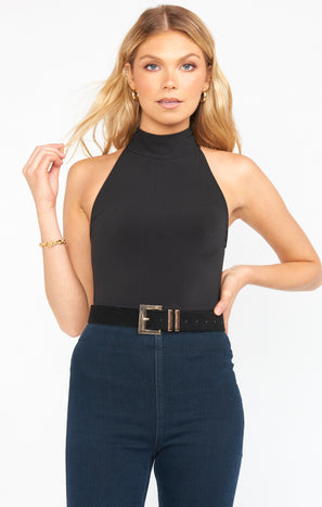 Savi Faux Suede Belt ~ Black