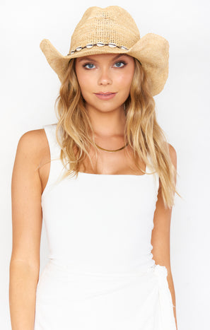 Straw Cowboy Hat ~ Natural