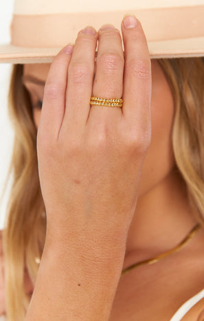 Edie Stretch Ring ~ 18K Gold Plated