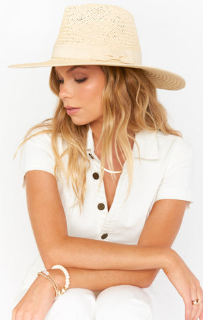Stevie Straw Hat ~ Natural