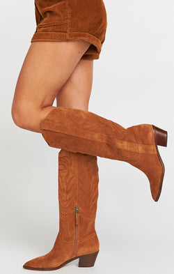 Dolce Vita Solei Western Boot ~ Brown