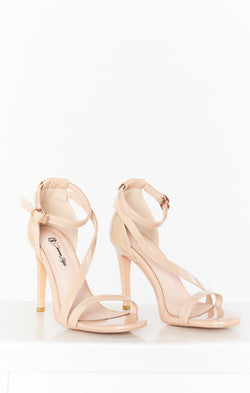 Diverse Style Crossover Strap Heel ~ Cashew