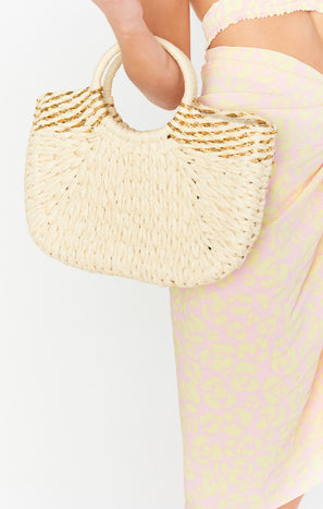 Eternal Sunshine Straw Purse ~ Ivory