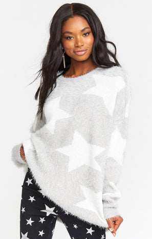 Leighanne Sweater ~ Fuzzy Star Knit