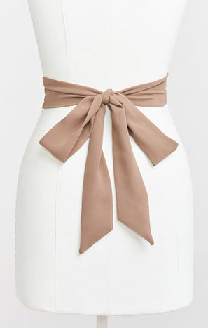 Bridesmaid Sash ~ Dune Chiffon