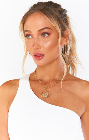 Ashton Coin Necklace ~ Gold