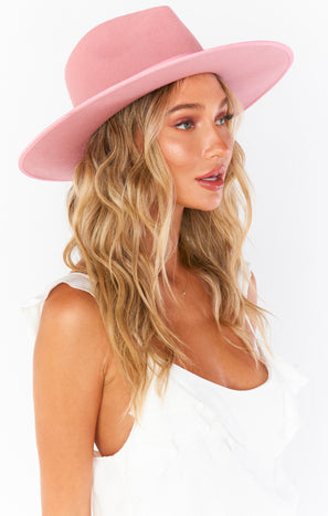 Lack of Color Rose Rancher Hat ~ Pink