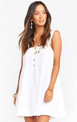 Marisa Dress ~ White Gauze