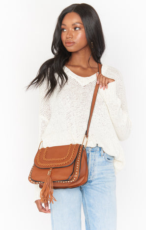 Normani Stud Crossbody Bag ~ Tan