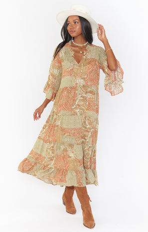 Viola Maxi Dress ~ Paisley Dream