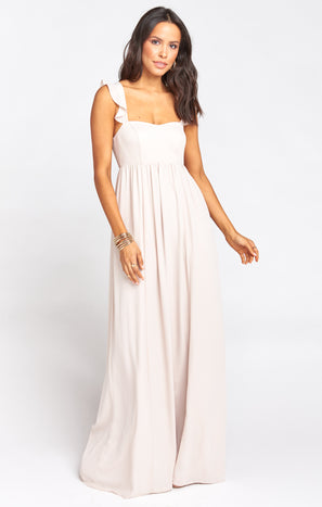 June Maxi Dress ~ Show Me the Ring Crisp