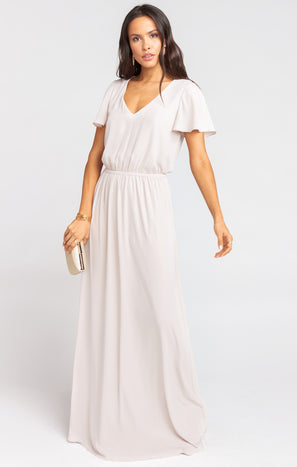 Michelle Flutter Maxi Dress ~ Show Me The Ring Crisp