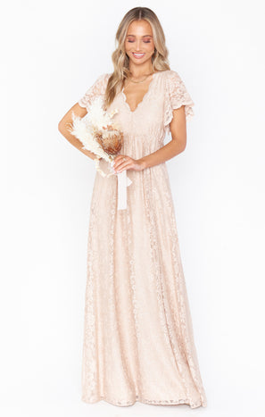 Sandra Maxi Dress ~ Champagne Forever Lace