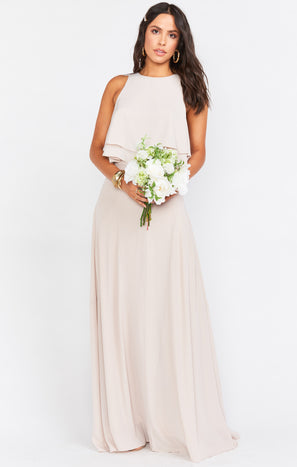Princess Di Stretch Maxi Skirt ~ Show Me the Ring Crisp