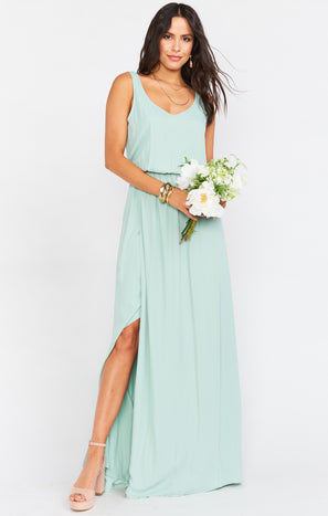 Kendall Maxi Dress ~ Dusty Mint Crisp
