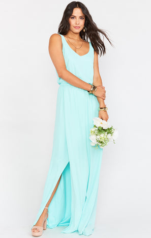 Kendall Maxi Dress ~ Sea Glass Crisp