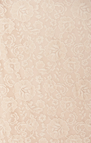 Bridesmaid Fabric Swatch ~ Champagne Forever Lace