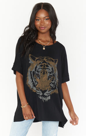 Talia Tee ~ Tiger Head Graphic