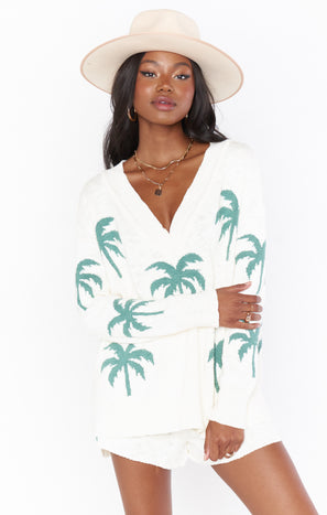 Gilligan Sweater ~ Palm Tree Knit