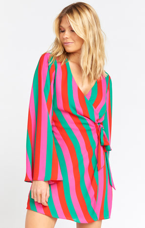 Caleb Mini Dress ~ Feliz Stripe