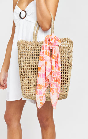 For You Woven Beach Bag ~ Natural