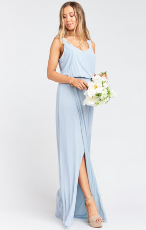 Kendall Maxi Dress ~ Steel Blue Chiffon