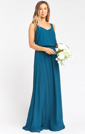 Kendall Maxi Dress ~ Deep Jade Chiffon