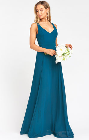 Jenn Maxi Dress ~ Deep Jade Chiffon