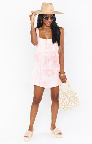 Marisa Dress ~ Twisted Tie Dye Pink