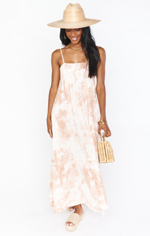 Anaya Maxi ~ Twisted Tie Dye Tan