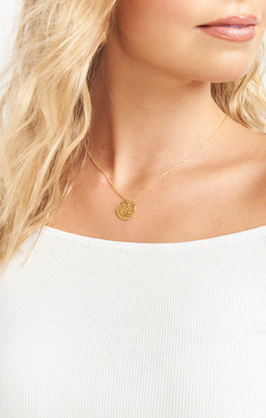 Enlighten Coin Necklace ~ 14K Gold