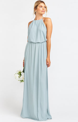 Heather Halter Dress ~ Silver Sage Crisp