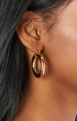 LUV AJ x SIVAN AYLA Havana Hoop Earrings ~ Gold