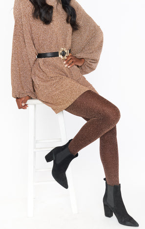 Shimmy Shimmer Tights ~ Copper Sparkle
