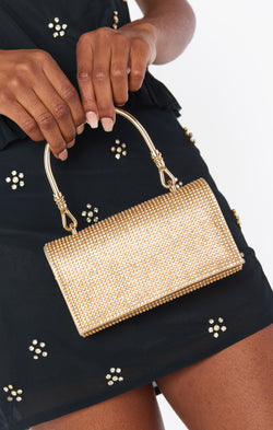 Starry Night Rhinestone Bag ~ Gold