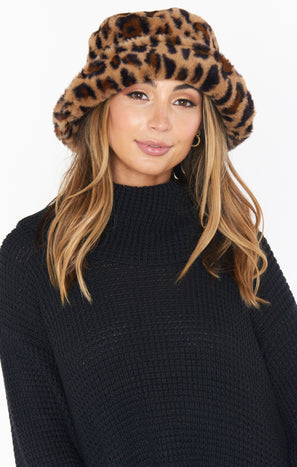 Kya Furry Bucket Hat ~ Leopard