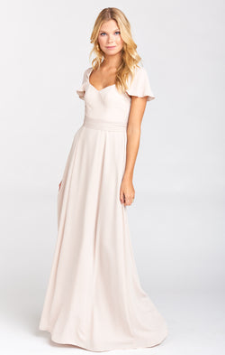 Marie Sweetheart Maxi Dress ~ Show Me the Ring Crisp